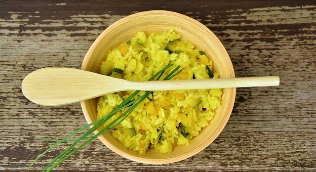 Reis auf deinem Teller