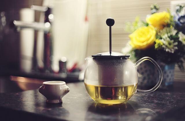 Fotos von grünem Tee zur Gewichtsreduktion