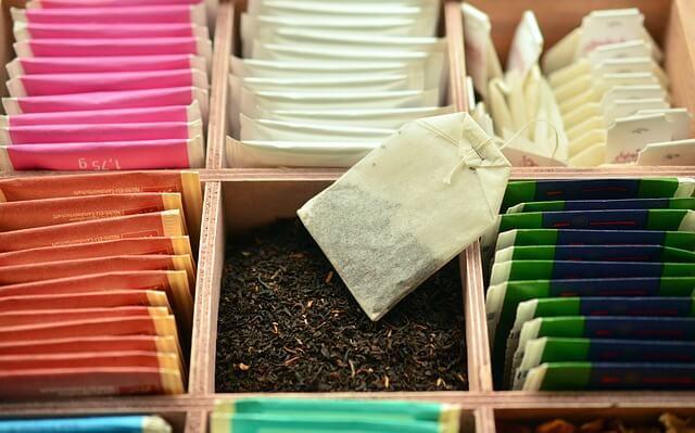 Verschiedene Arten von grünem Tee