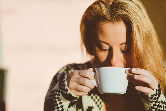 Morgens schnell einen Kaffee getrunken